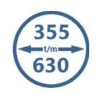 Buisventilatoren 355mm t/m 630mm