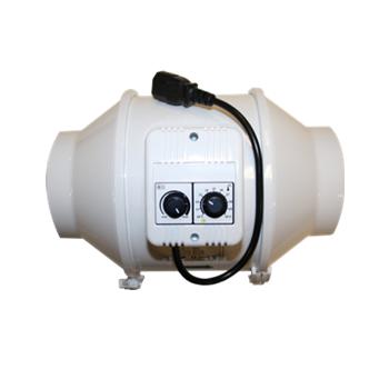 Buisventilator met thermostaat en regelaar S-vent  TT U