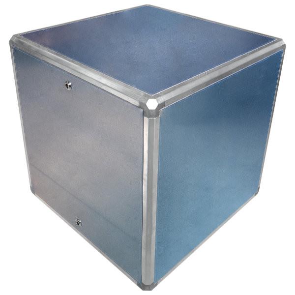 Aluminium boxen met inspectieluik en slotsysteem