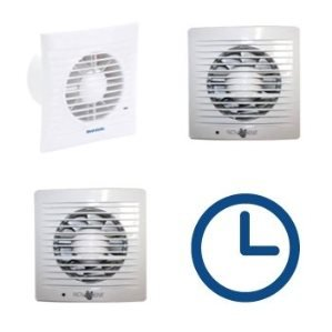 Badkamerventilatoren met timer