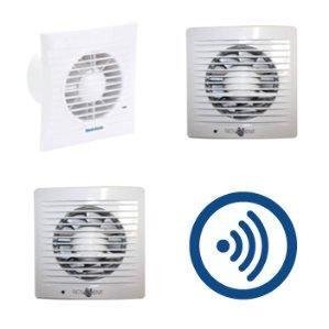 Badkamerventilatoren met bewegingssensor