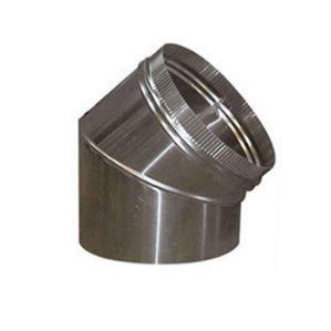 Bochten 45º Aluminium Rond
