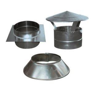 Dakkappen / dakdoorgang aluminium rond
