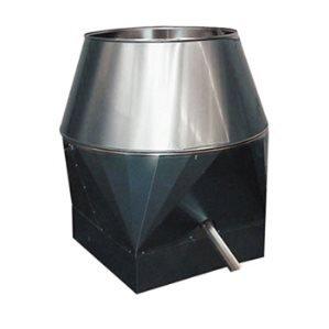 Deflectorkappen Aluminium vierkant
