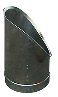 T-Stuk Los Schuin Aluminium Rond Diameter Ø 150 mm