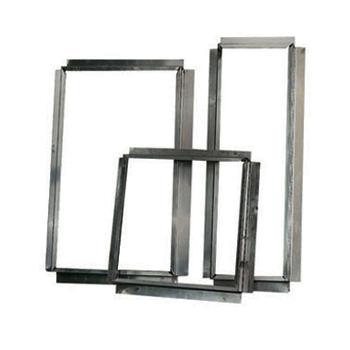 Aluminium Flens / Aansluitstuk Vierkant 300x300 mm