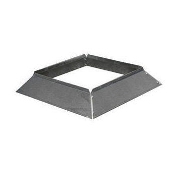 Stormkraag Aluminium Vierkant 250x250 mm