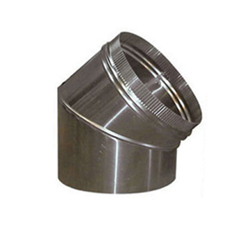 Bocht  45º Aluminium Rond Diameter Ø 250 mm