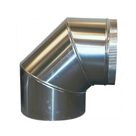 Aluminium Bocht 90º Graden Diameter Ø 110 mm