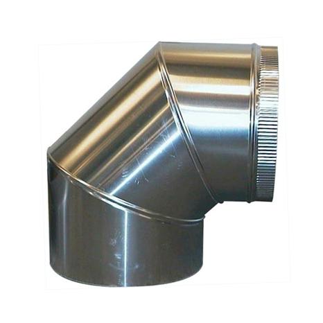 Aluminium Bocht 90º Graden Diameter Ø 180 mm