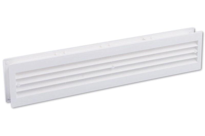 Kunststof deurrooster 455x90mm wit