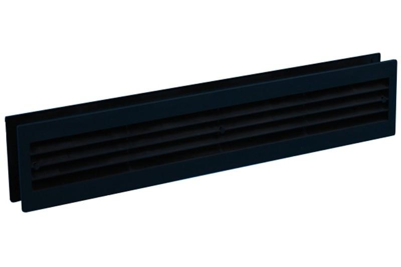 Kunststof deurrooster 455x90mm zwart