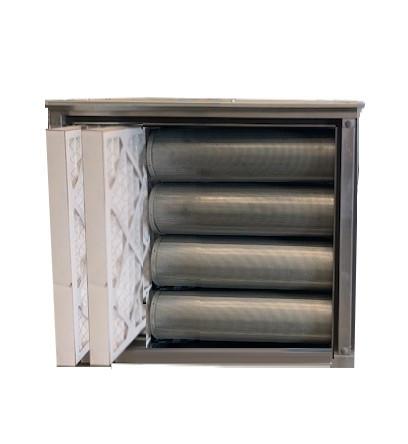 Geurfilterkast zonder motor | 10 koolstoffilters