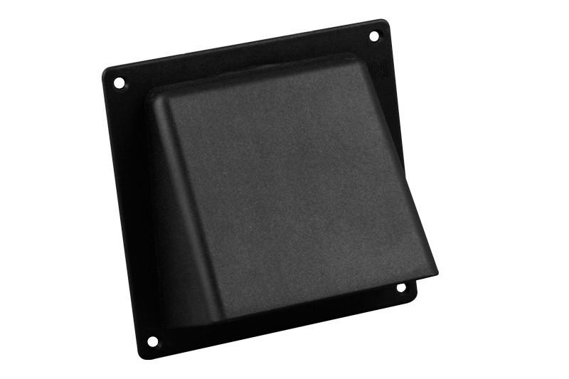 Universele gevelklep Ø 150mm | 200x200mm | zwart