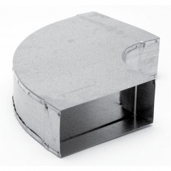 Instortbocht 60º Horizontaal 220mm x 80mm (Rechthoekig)