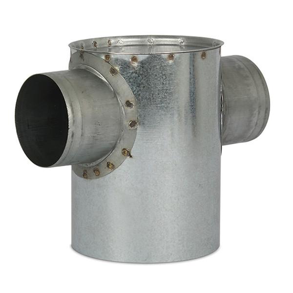 Open instortpot 2 aftakkingen (max) Ø150mm, Hoogte - ≤ 120mm (onder de opening)