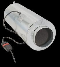 Can-Fan ISO MAX buisventilator 200 870M3/h  Ø200mm met 3 standen