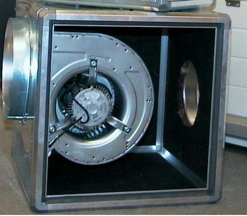 Ventilatiekast zonder motor 1000mm x 1000mm (Ongeïsoleerd)