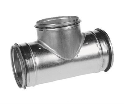 T-stuk voor spirobuis diameter Ø 125mm met aftakking Ø 125mm safe