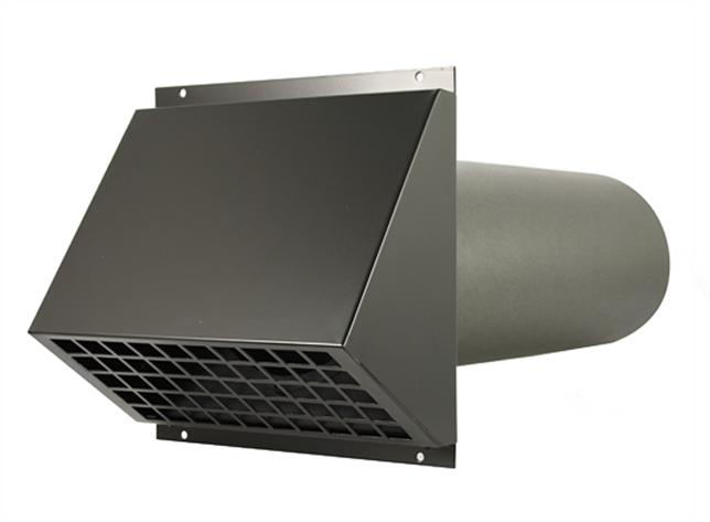 Geïsoleerde geveldoorvoer Ø 150mm zwart