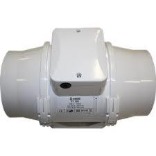 Buisventilator TT125S T 240/320m3/h met timer. Ø 125mm