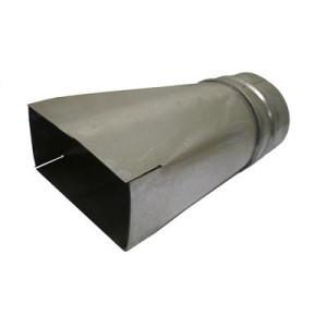 Verloopstuk 250mm x 80mm (Rechthoekig) naar Ø150mm (Rond)