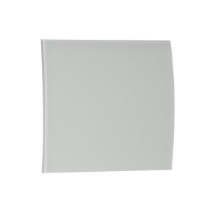 Voorfront designventilator/designrooster Mat Wit Glas gebogen Ø 100mm