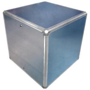 Aluminium afzuigbox 1000x1000mm met inspectieluik (zonder motor)