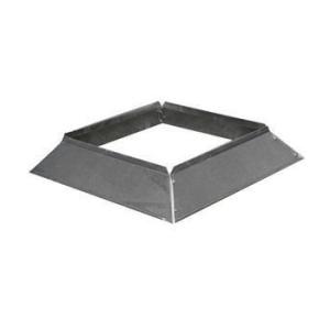 Stormkraag Aluminium Vierkant 150x150 mm