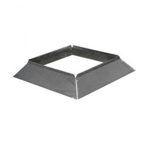 Stormkraag Aluminium Vierkant 400x400 mm