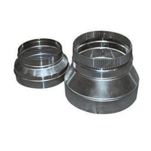 Verloopstuk Aluminium  Symmetrisch Ø 350x200 mm