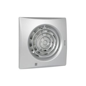 Badkamer/Toiletventilator Front aluminium Silencio 100 Timer+VochtSensor