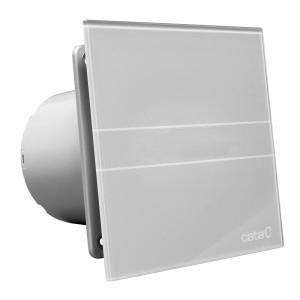 Badkamerventilator glass design E-100GST met timer (zilver)