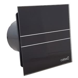 Badkamerventilator glass design E-100GT BK met timer (zwart)