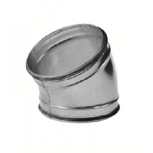 Spiro bocht 30 graden Ø 125mm (SAFE)
