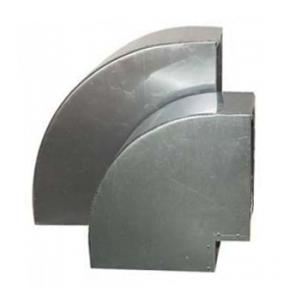 Bocht 90º Aluminium Vierkant 150x150 mm