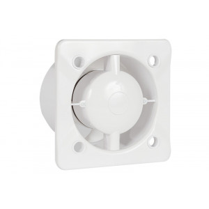 Design badkamer/toiletventilator AW100 + Trekkoordschakelaar