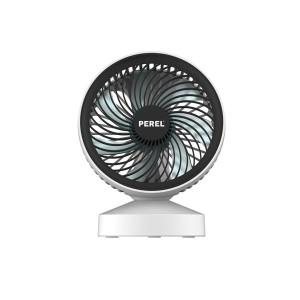 Design ventilator met USB-aansluiting - oplaadbaar - wit/zwart