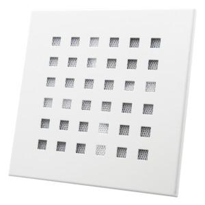 Stille luchttoevoerventiel wit vierkant diameter 125