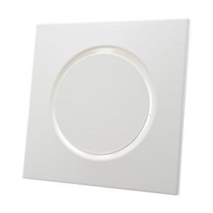 Design toevoerventiel vierkant wit diameter 125