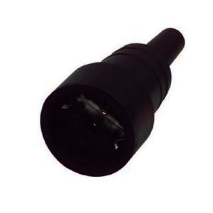 kopp elektrische rubberen contrastekker zwart