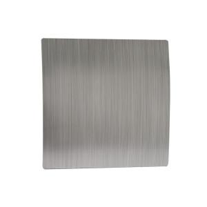 Voorfront designventilator/designrooster Kunststof, Gebogen zilver Ø 125mm
