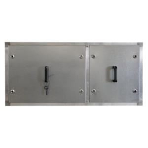 Filterkast 4250m3/h met doos- en zakkenfilters 1250x670xH670mm