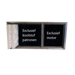 Geurfilterkast B | excl. motor en koolstofpatronen | geschikt voor 12 patronen