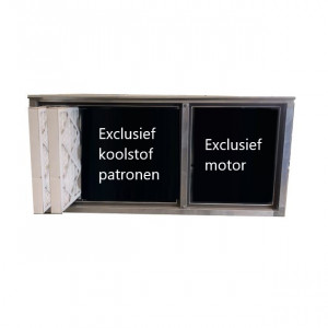 Geurfilterkast B | excl. motor en koolstofpatronen | geschikt voor 16 patronen