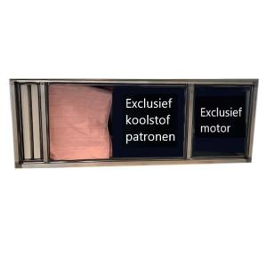Geurfilterkast C | excl. patronen en motor | geschikt voor 16 patronen