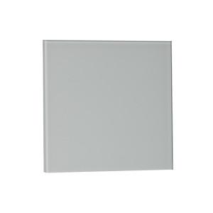 Voorfront designventilator/designrooster, Glas Vlak mat wit Ø 125mm