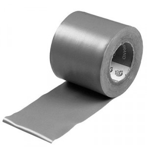 PVC-tape grijs 50 mm 10 mtr