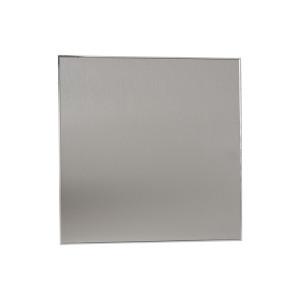 Voorfront designventilator/designrooster Kunststof, Gebogen zilver Ø 100mm