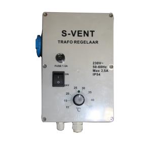 S-vent trafo Regelaar 2,5 Amp met sensor